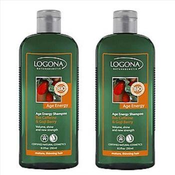 【即期品】LOGONA諾格那 東方枸杞果能量洗髮精(稀疏細軟髮質) 250ML《兩入》-效期:2017/09/30
