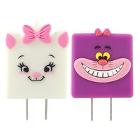 Disney 可愛 充電轉接插頭 USB轉接頭-柴郡貓 瑪麗貓
