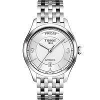 TISSOT 天梭 T~One Gent 內斂光輝機械腕錶 銀 38mm  T038430