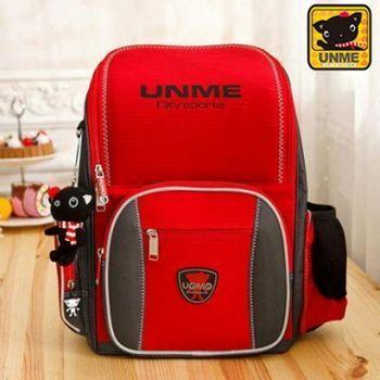 【UNME】台灣製專櫃書包/減壓書包/護脊書包/中高年級(3211紅色)