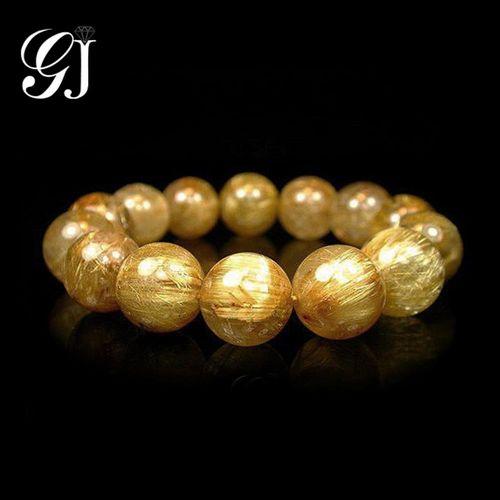 天然鈦晶圓珠手鍊/手珠(16mm) 晉佳珠寶Gemdealler Jewellery