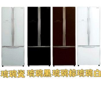 ★夜間★HITACHI 日立【RG430】靜音變頻421L三門對開冰箱