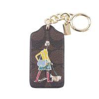 COACH BONNIE 款 女郎包包掛飾 ^#47 鑰匙圈 ^#45 咖啡色
