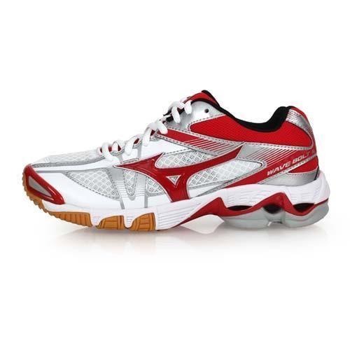 【MIZUNO】WAVE BOLT 6 女排球鞋-美津濃 白紅