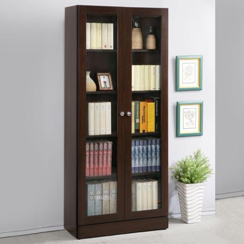 《Homelike》幸福2.7尺雙門書櫃