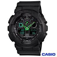 CASIO卡西歐 G ^#45 SHOCK型男大錶徑雙顯 錶 ^#45 黑綠 GA ^#4