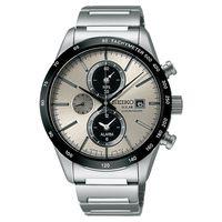 SEIKO太陽能鬧鈴兩地時間計時腕錶 ^#45 銀灰 ^#47 40mm V172 ^#4