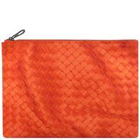 BOTTEGA VENETA 輕量尼龍編織圖紋手拿包 ^#47 化妝包 ^#45 大型 ^