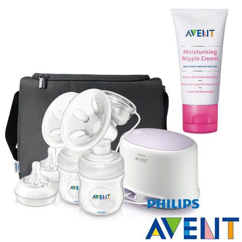 PHILIPS AVENT輕乳感專業型雙邊電動吸乳器+乳頭舒緩修護霜(30ml)