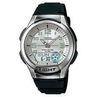 ~CASIO~ 超世代科技雙顯時區膠帶錶 ^#45 白面 ^#40 AQ ^#45 180