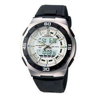 ~CASIO~ 液晶都會光廊雙顯時區膠帶錶 ^#45 白面 ^#40 AQ ^#45 16