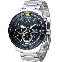 ALBA 雅柏 活力 系列 三眼計時腕錶 VD57 ^#45 X071D AM3323X1