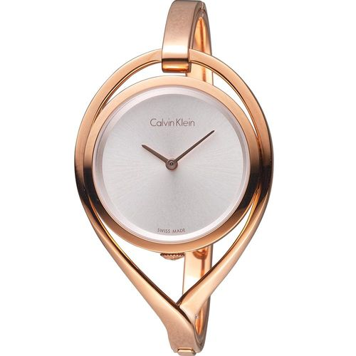 Calvin Klein  light 精巧系列 復刻回憶時尚腕錶 K6L2S616 玫瑰金色