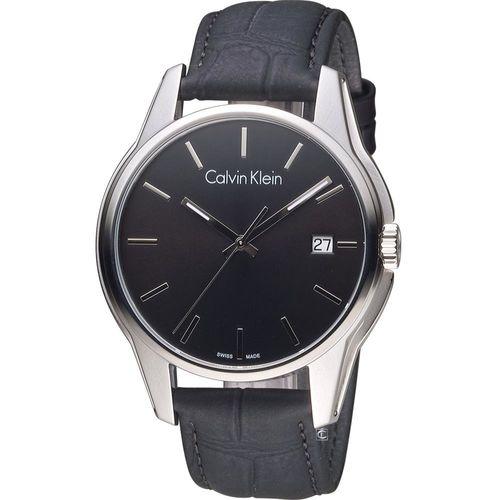 Calvin Klein 都會型男時尚腕錶  K7K411C1 黑(44mm)