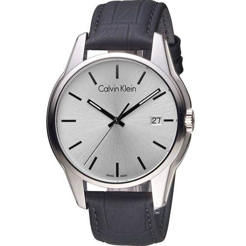 Calvin Klein 都會型男時尚腕錶  K7K411C6 銀白(44mm)