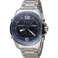 ALBA 雅柏 劉以豪代言 背刻特別款雙顯腕錶 N021 ^#45 X004B AZ402