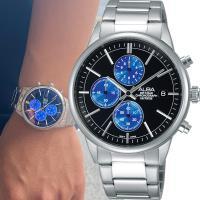 ALBA 雅柏 街頭酷 系列 三眼計時腕錶 VD57 ^#45 X079B AM3333X