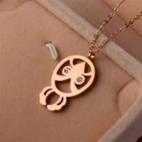【米蘭 】玫瑰金項鍊鑲鑽純銀吊墜 可愛 71x163
