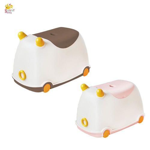 sunnybaby生活館 牛BUBU玩具收納車(1入) 粉紅、咖啡 CB-25