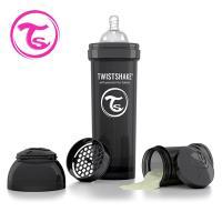 ~Twistshake~ 彩虹奶瓶 ^#45 騎士黑 330 ml ^#47 奶嘴口徑1m