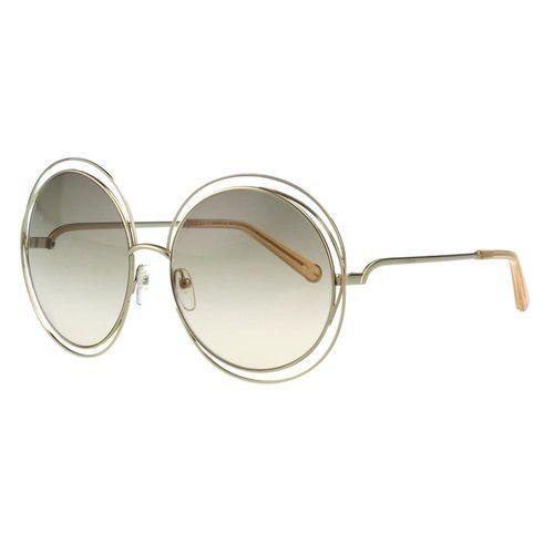 CHLOE太陽眼鏡 金屬大圓框(優雅玫瑰金)CE114S-724