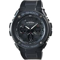 CASIO 卡西歐G ^#45 SHOCK 抗震太陽能鬧鈴電子膠帶錶 ^#45 黑 ^#4