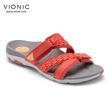 【美國VIONIC法歐尼】健康美體鞋 Braeden 布蕾登(黑、橘紅)-女鞋