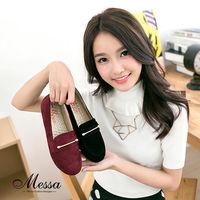 【Messa米莎】 ^#40 MIT ^#41 韓系中性 金屬飾扣絨面內真皮紳士鞋 ^#4