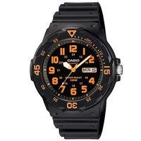 ~CASIO~ 潛水風DIVER LOOK指針錶 ^#45 黑面橘刻度 ^#40 MRW