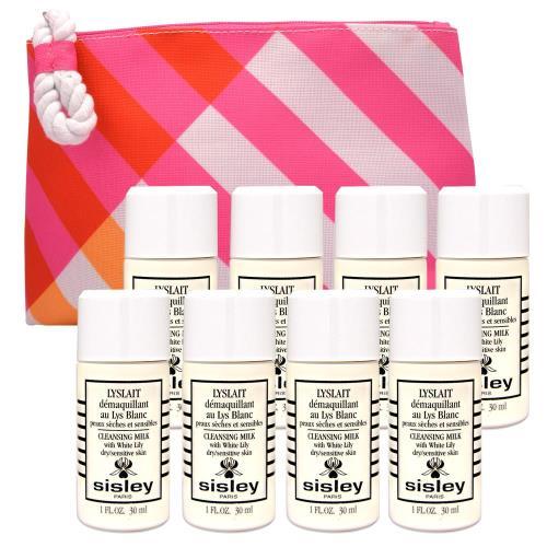 Sisley 百合花保濕潔膚乳30ml*8(贈 專櫃化妝包-隨機*1)