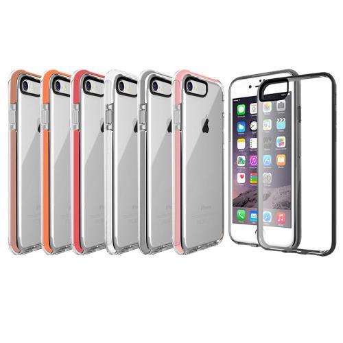 水漾-iPhone7  (4.7吋)神盾彩色超防摔氣墊手機殼(送玻璃保護貼)