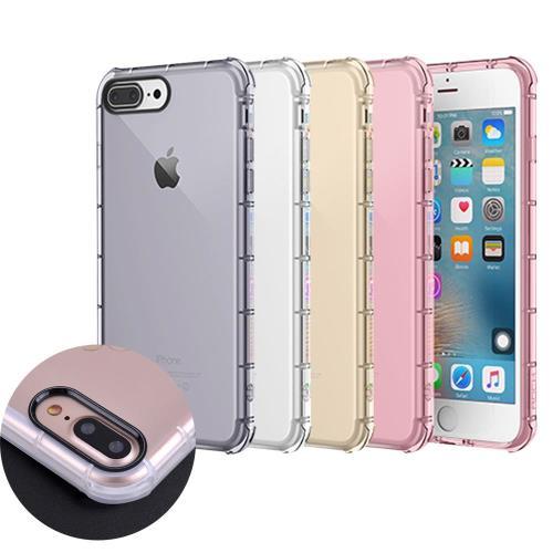 水漾 iPhone7 4.7吋黑色光圈空壓氣墊式防摔手機殼(送玻璃保護貼)