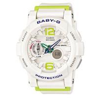 ~CASIO~BABY ^#45 G 極限 女孩衝浪板 概念錶 ^#45 白X青檸 ^#4