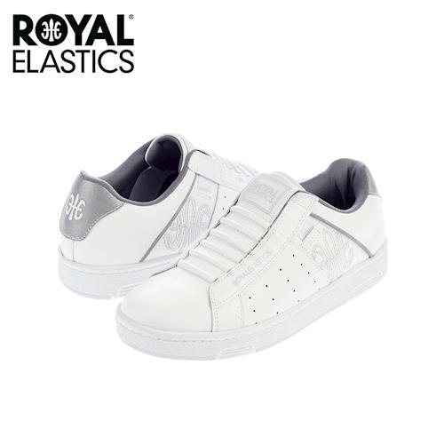 【Royal Elastics】男-Icon 休閒鞋-白/反光銀(02071-008)