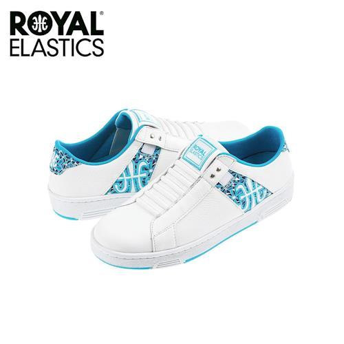 【Royal Elastics】女-Icon Z 休閒鞋-白/湖水藍(92971-500)