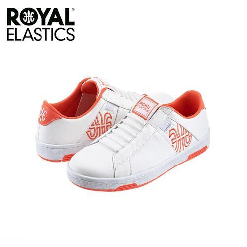 【Royal Elastics】女-Icon Z 休閒鞋-白/粉橘(92971-002)
