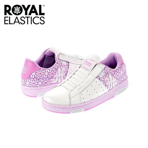 【Royal Elastics】女-Icon 休閒鞋-白/粉紫(92071-600)