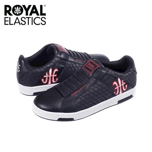 【Royal Elastics】男-Icon 休閒鞋-黑/紅/菱格紋(02071-941)