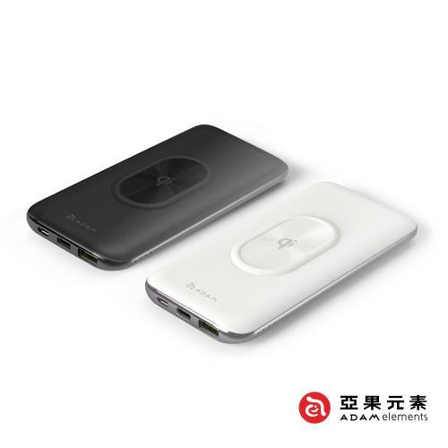 【亞果元素】USB-C PD/QC 3.0 10W無線快充 10000mAh行動電源 (GRAVITY 2)|無線充電板