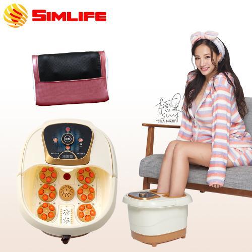 Simlife-薰蒸泡腳機肩頸按摩放鬆組 中低桶泡腳機