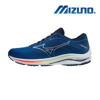 【MIZUNO 美津濃】WAVE RIDER 25 男慢跑鞋 超寬楦頭(J1GC210493)