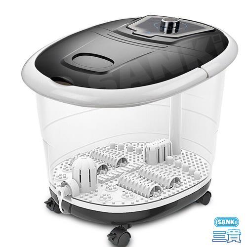日本SANKi 好福氣加熱SPA足浴機 (黑曜石) 中低桶泡腳機