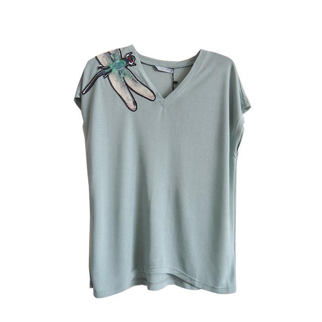 【龐吉 PANGCHI】純色V領T恤(1713097-51-52)