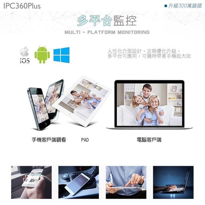 【HANLIN-IPC360】(Plus) 升級300萬鏡頭高清1536P 防水全景360度語音監視器