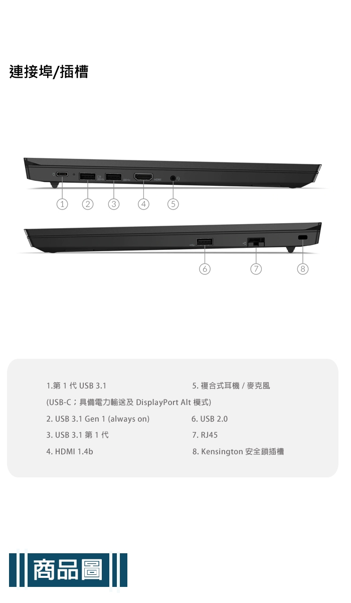 Lenovo ThinkPad E15 20RDCTO1WW 15.6吋商務筆電 (i5-10210U/8G/512G PCIe SSD/AMD RX640 2G/win10/一年保固)