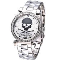 MARC ECKO 龐克戰士骷髏圖騰晶鑽腕錶