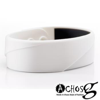 MASSA-G X ACHOS【ARC Master-White】鍺鈦手環