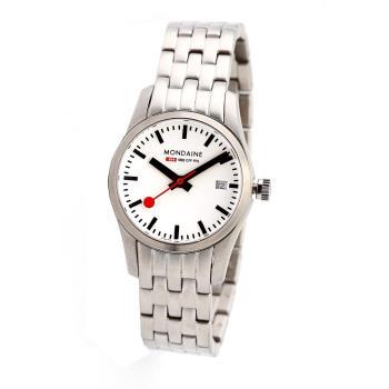 瑞士國鐵藍寶石水晶鋼鍊女錶