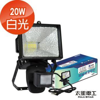 【太星電工】LED紅外線感應20W投射燈WD920(白/黃光)