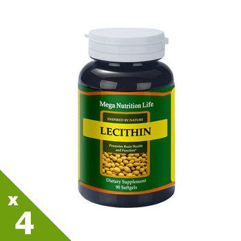 【美國原裝進口 營養生活】大豆卵磷脂膠囊4入